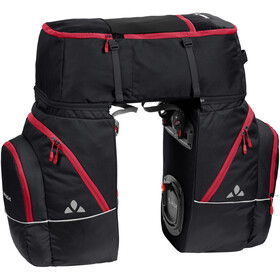 VAUDE Karakorum Pannier-sarja 3 osaa, black/red